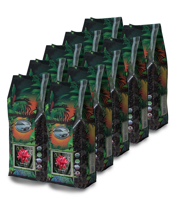 Sumatra, Dark Roast Coffee, Whole Bean, 20 Lb Box