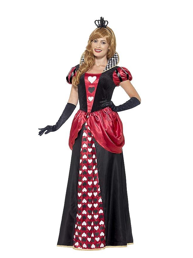 Smiffys Disfraz de Reina roja, Rojo, con Vestido y Corona: Amazon.es: Juguetes y juegos