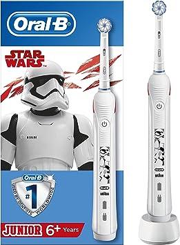 Oral B Junior Star Wars Elektrische Zahnbürste mit visueller Andruckkontrolle, für Kinder ab 6 Jahren