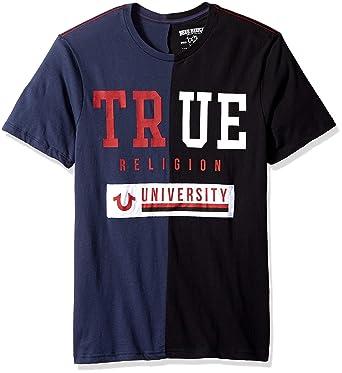 5599cca83 Amazon.com  True Religion Men s Uni Split Crew Neck Tee