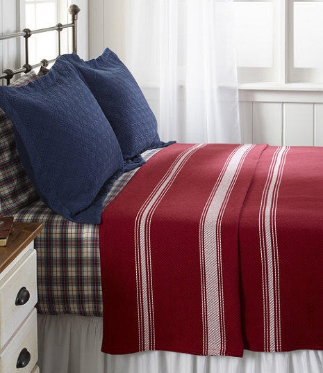 Maine-Made Cotton Blanket, Stripe | Free Shipping at L.L.Bean