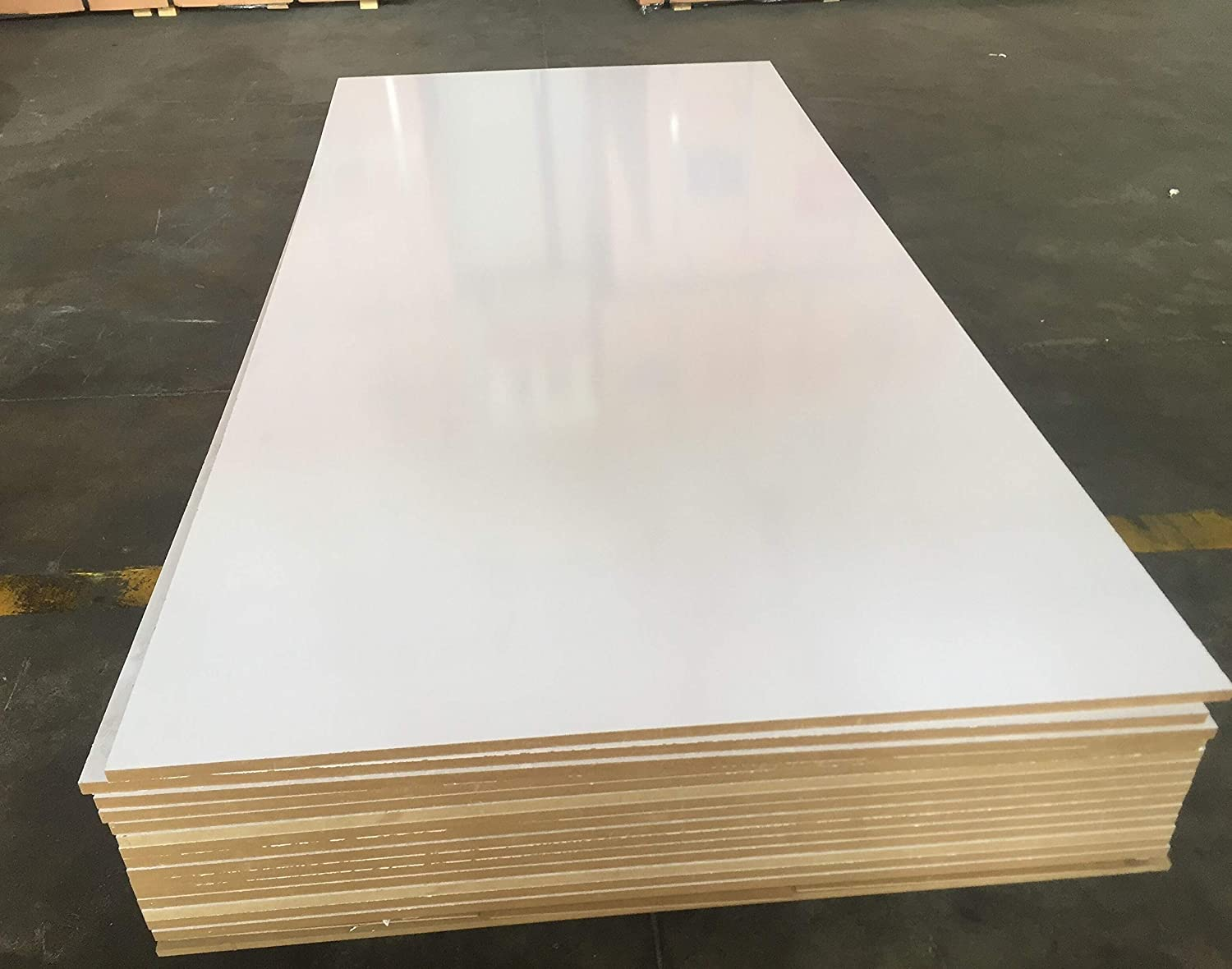 8x4ft 2440mm x 1220mm White Melamine Board Thickness: 12mm