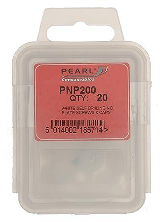 Pearl PNP200 - Juego de tapas y tornillos para matrículas (20 unidades), color