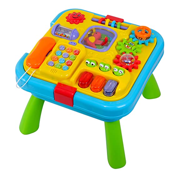 Deluxe Baby 2 in 1 reversible activity table. by Grow With Play: Amazon.es: Bebé