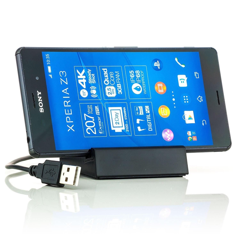 Base de carga con puerto USB Saxonia, cargador para Sony ...
