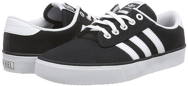 Adidas Kiel Hommes Toile Baskets Noir Noir Achat Vente