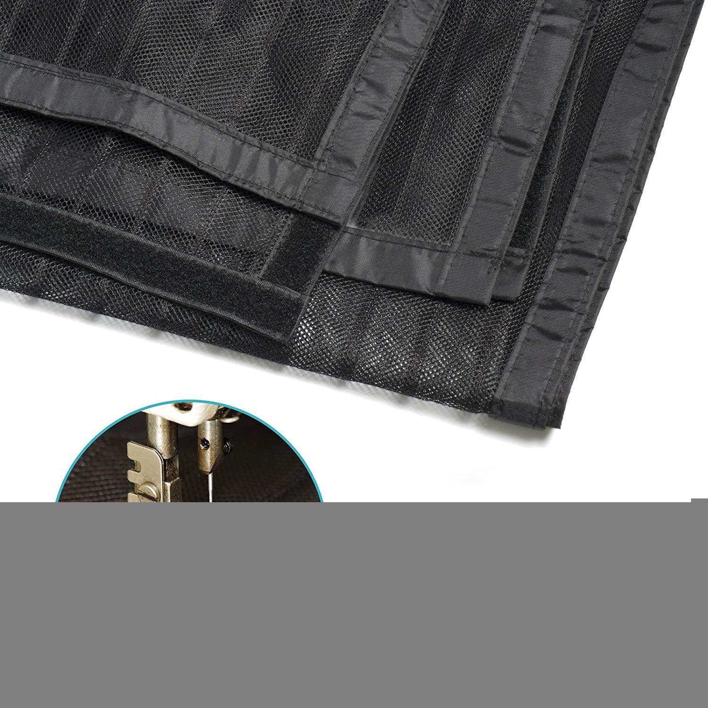 WISKEO Mosquitera para Puerta Grande Magnetica Tejido S/úper Fino Cortina Adhesiva Evita el Paso de Insectos Pantalla Dejar Pasar El Aire Terraza Balcones Negro 170x210CM