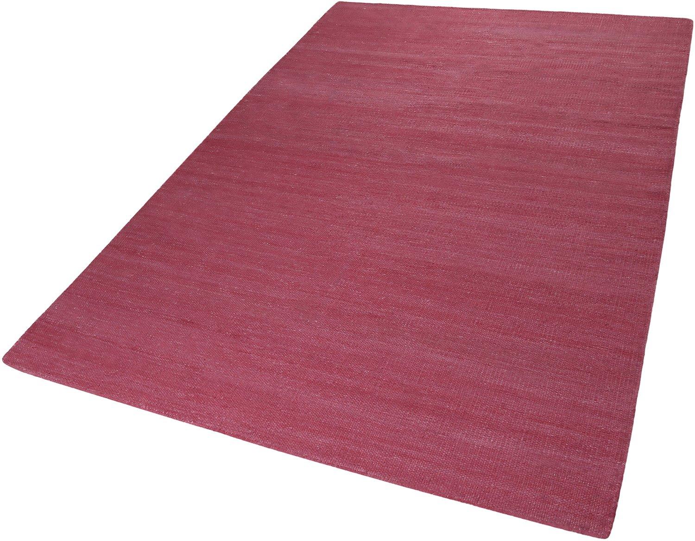 ESPRIT Rainbow Kelim Moderner Markenteppich, Baumwolle, Dunkelrosé, 150 x 80 x 0.5 cm