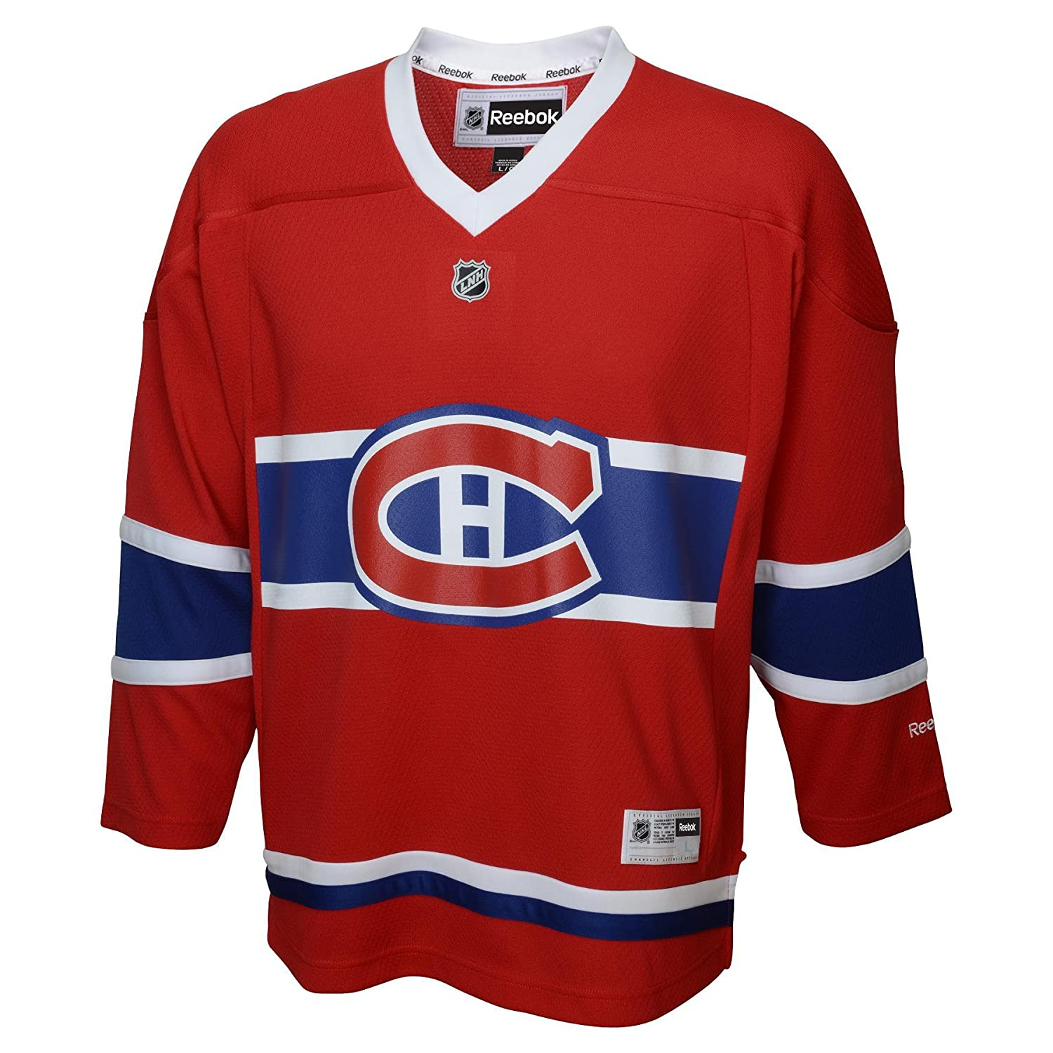 Amazon.com   NHL Montreal Canadiens Boys 4-7 Team Replica Jersey ... fe06aaee2