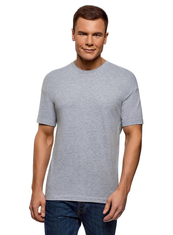 oodji Ultra Uomo T-Shirt in Cotone Dritta RIFICZECH s.r.o. 5L651000M