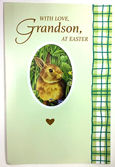 Amazon easter card grandson with love grandson at easter easter card grandson with love grandson at easter american m4hsunfo