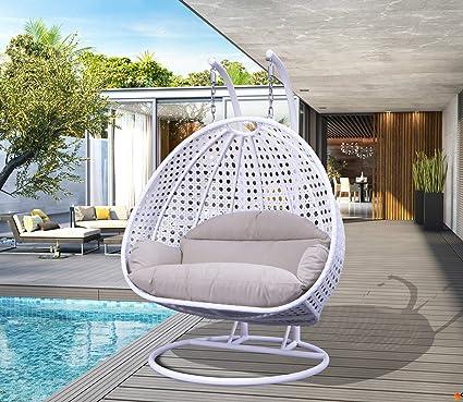 Strange Amazon Com Leisuremod Wicker Hanging Swing Egg Chairs Patio Creativecarmelina Interior Chair Design Creativecarmelinacom