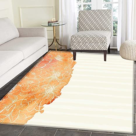 be0136328b6 Image Unavailable. Image not available for. Color  Flower Area Rug Tropical  Exotic Hawaiian Island ...