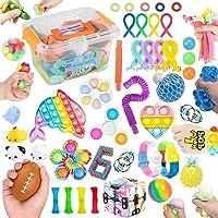 45 Pcs Fidget Toys Set Cheap Fidget Toys Box Set ,Sensory Relief Toys Set, Anxiety Relief Fidget Toys, Figetget toys set…