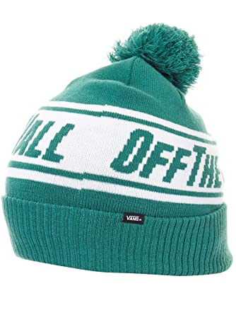 c8ecc885d2 Vans Off The Wall Pom Beanie Evergreen  Vans  Amazon.co.uk  Clothing