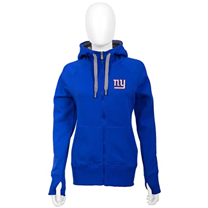 first rate 4e051 d9aca Amazon.com : New York Giants Women's Blue Victory Zip-Up ...