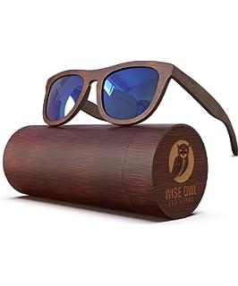 Amazon.com: Recuperada y reciclado negro anteojos de sol ...