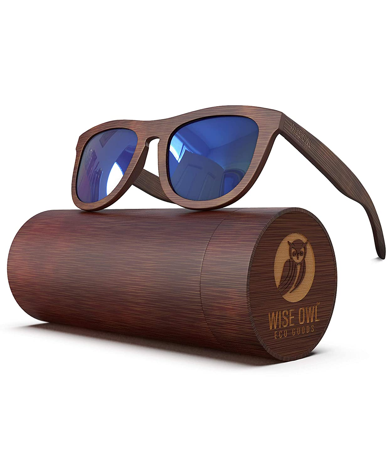 e4005212508 PREMIUM Polarized Wooden Sunglasses For Men   Women Featuring 11 LAYERED  Lens