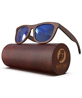 d2e175cb8d PREMIUM Polarized Wooden Sunglasses For Men   Women Featuring 11 LAYERED  Lens