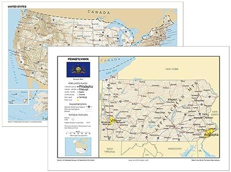 Amazon.com : 13x19 Pennsylvania and 13x19 United States General ...