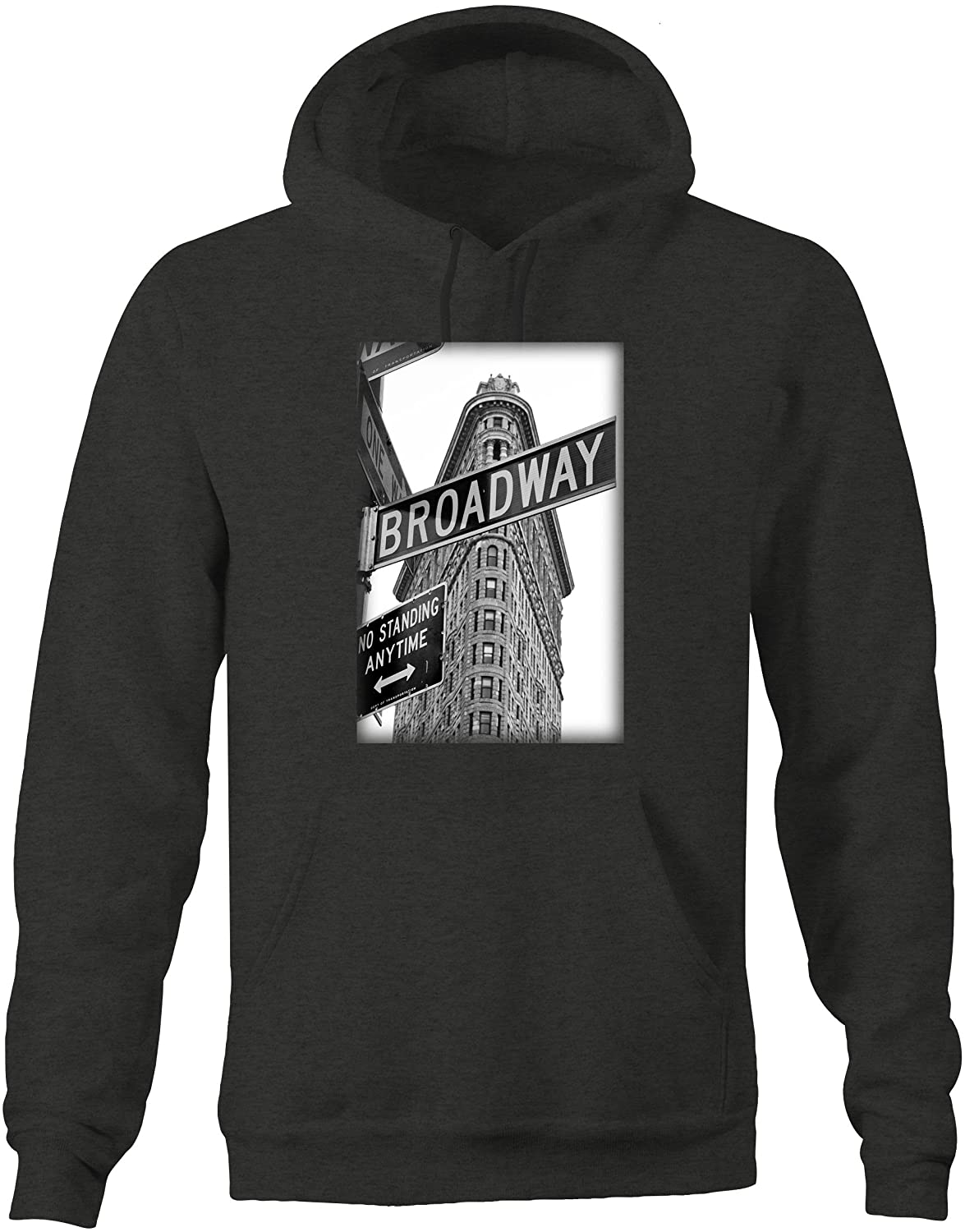 Broadway New York Building Sign Vintage Retro NYC Graphic Hoodie for Men