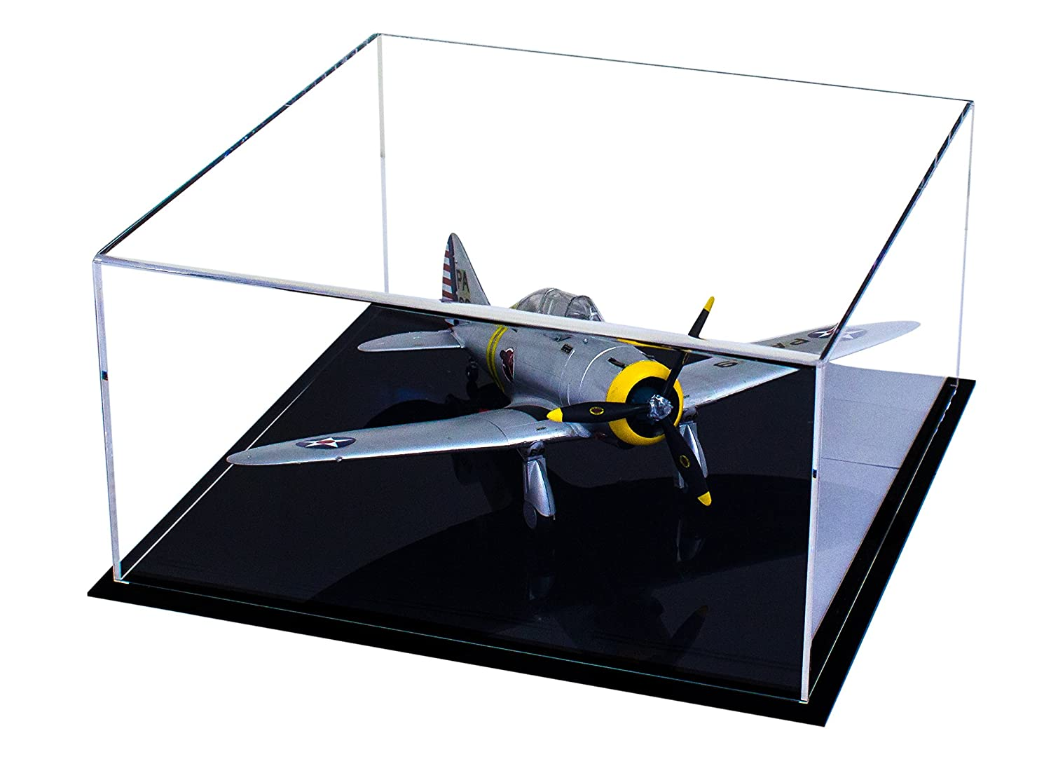 Amazon.com: Deluxe Clear Acrylic Model Plane Display Case (A030): Toys & Games