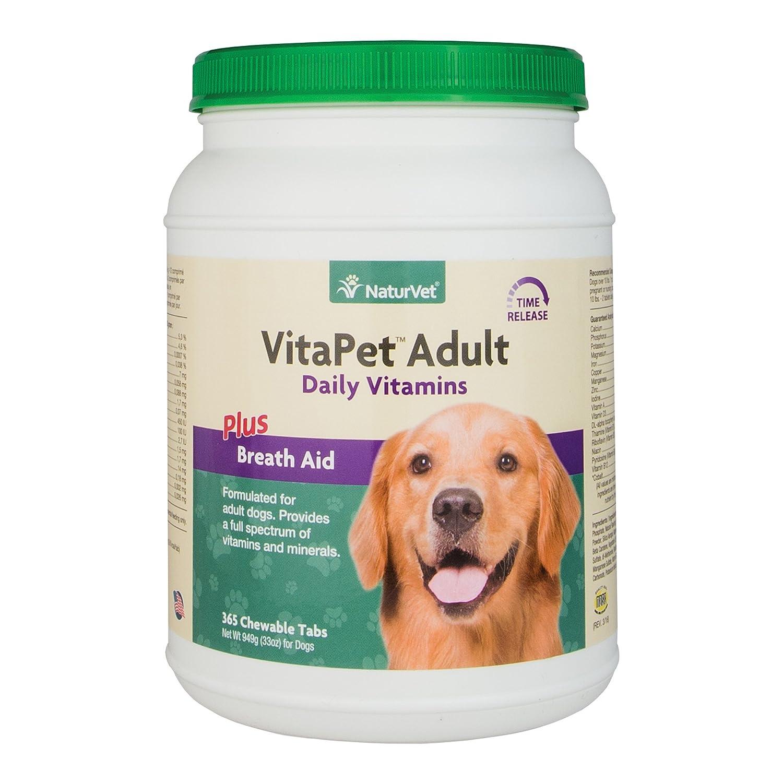 NaturVet Vita Pet Adult Tablets Tasty Chewable Vitamins Minerals for Dogs 365ct 79903026