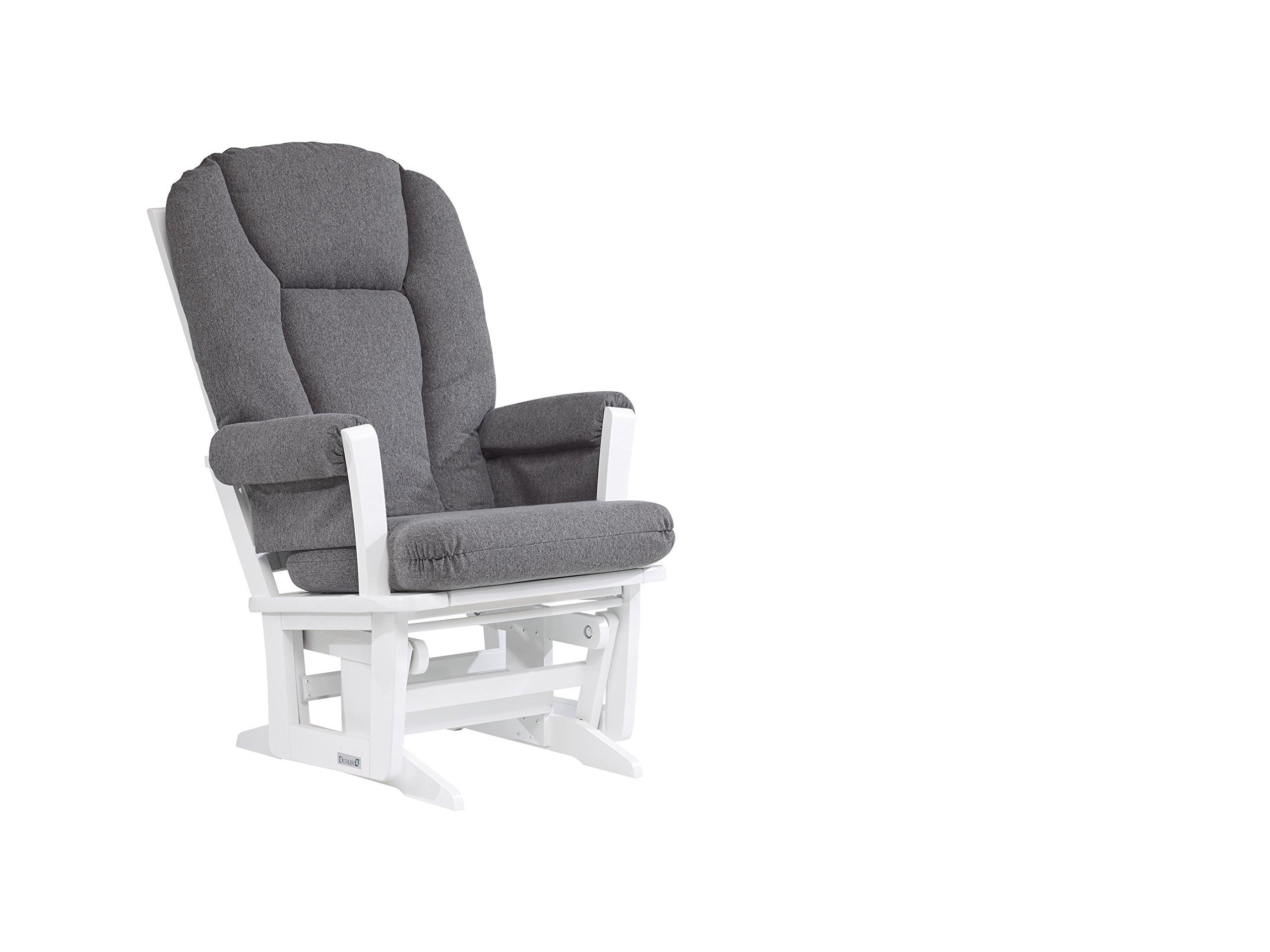 Dutailier Modern Glider, White/Dark Grey