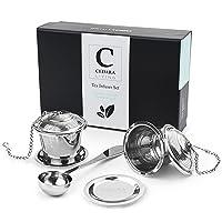Tea Steeper (Set of 2) - Stainless Steel Loose Leaf Tea Infuser - Suits Single Cup...