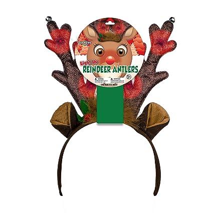 LED Rudolph Reindeer Antlers Headband
