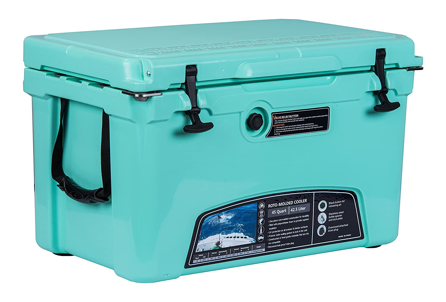 MILEE Heavy Duty Iceland Cooler with Divider, Basket and Cup holder, 45 QT