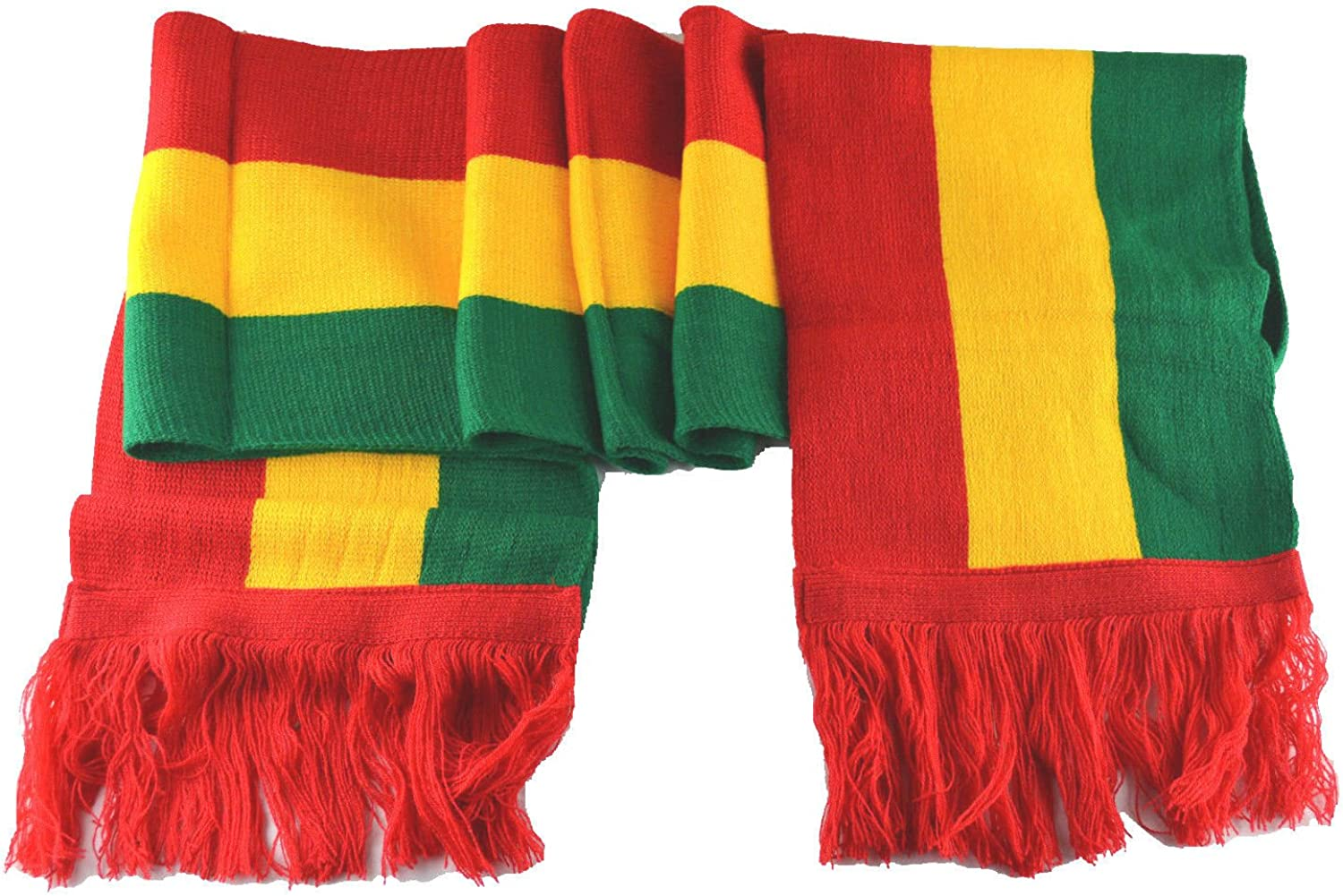 "MM Rasta Scarf Red Yellow Green 8""80"""