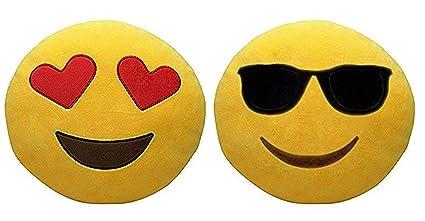 rikirit cool dude heart eyes plush pillows emoji set of 2 amazon