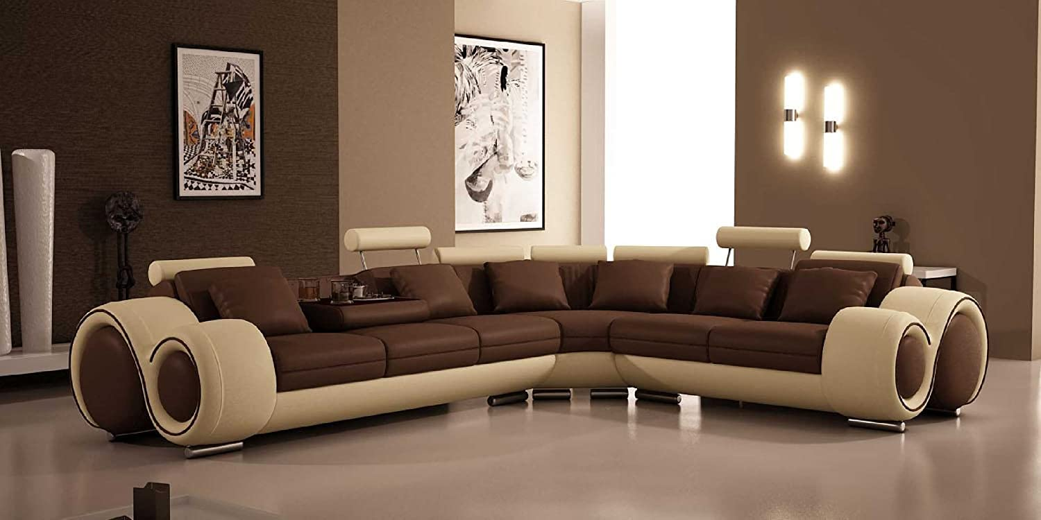 Amazon.com: 4087   Bonded Leather Sectional Sofa With Recliners: Kitchen U0026  Dining