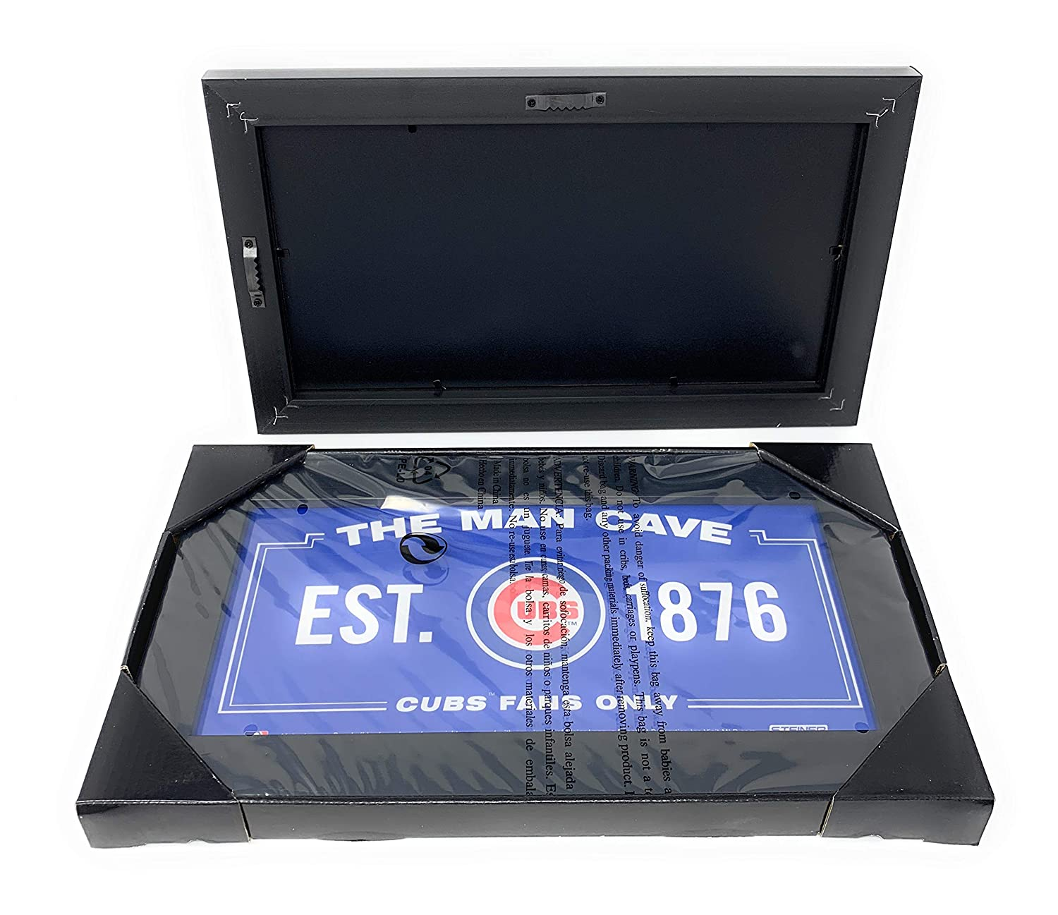 Amazon.com: Mister Mancave Chicago Cubs Man Cave MLB Licensed 6x12 Framed Photo Read to Hang: Sports & Outdoors