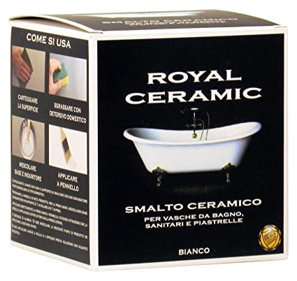 Brava RC3 Royal Ceramic Smalto per Vasche da Bagno, Bianco, 375 ml ...