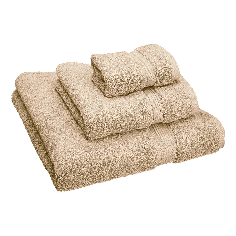 Blue Nile Mills 6-Piece Towel Set 900 GSM Premium Long-Staple Cotton Black