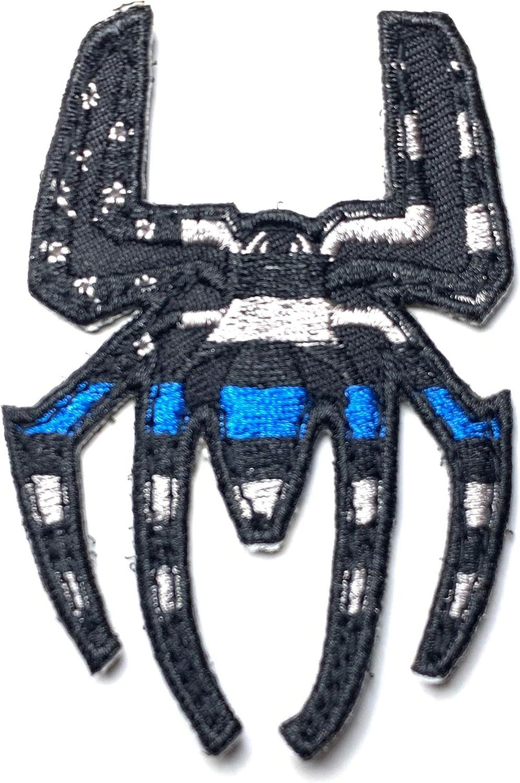 Spider Thin Blue Line USA Flag Black Gray Superhero Morale Patch Police Law Enforcement