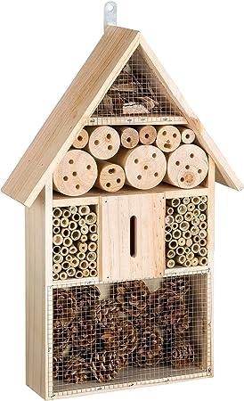 TecTake XXL Hôtel boîte à insectes 10 cm maison des insectes en bois jardin  balcon