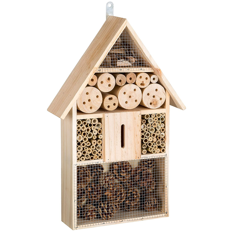 TecTake Casa para insectos mariquitas hotel madera incubadora caseta de anidar jardín XL: Amazon.es: Hogar