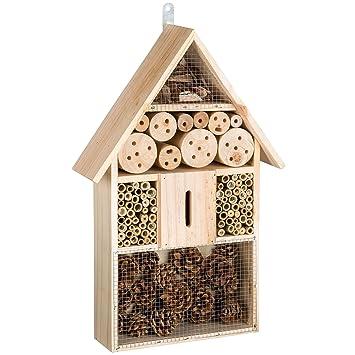 TecTake Casa para insectos mariquitas hotel madera incubadora caseta de anidar jardín XL