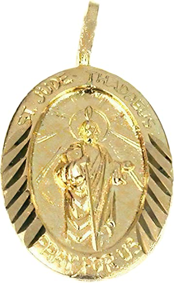 0.9 GRAMS Details about  /14K GOLD SMALL HOLLOW SAINT//ST JUDE THADDEUS MEDAL CHARM  PENDANT