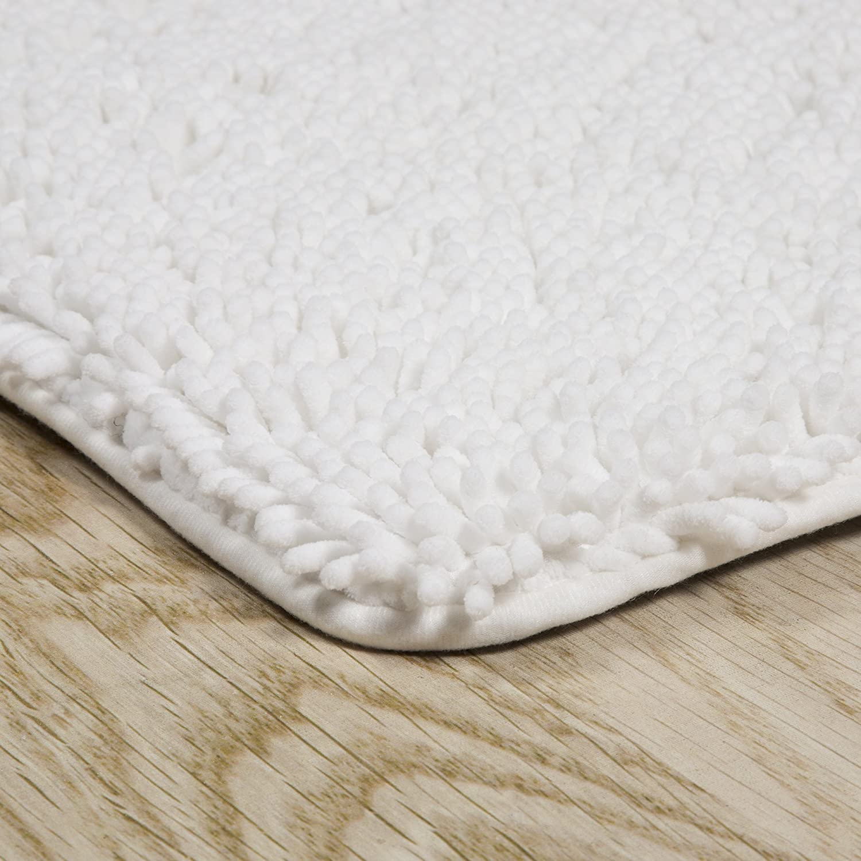 Chocolate Lavish Home Memory Foam Shag Bath Mat 2-Feet by 5-Feet