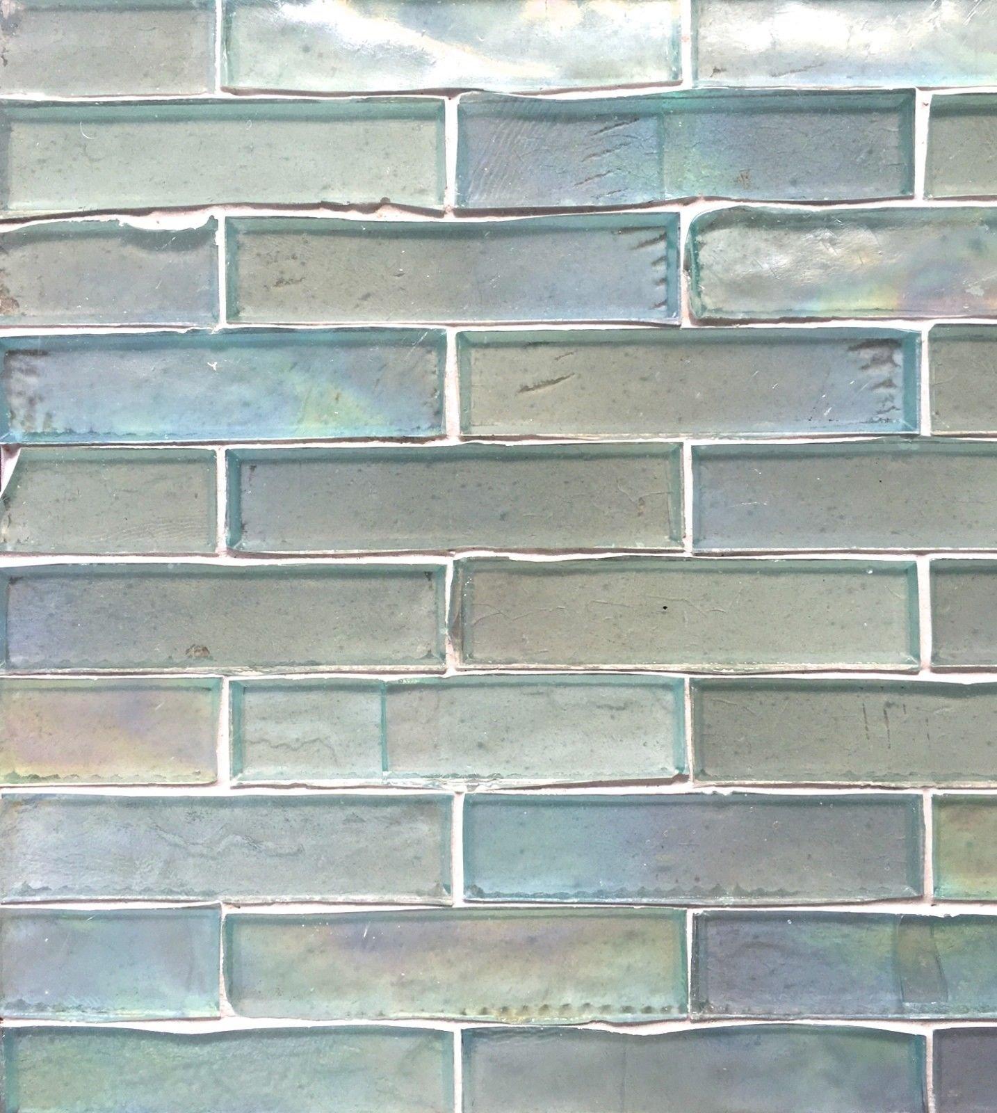 1x4 Tresor Collection (TM) Handcut Glass Mosaic, Ocean Foam Luster