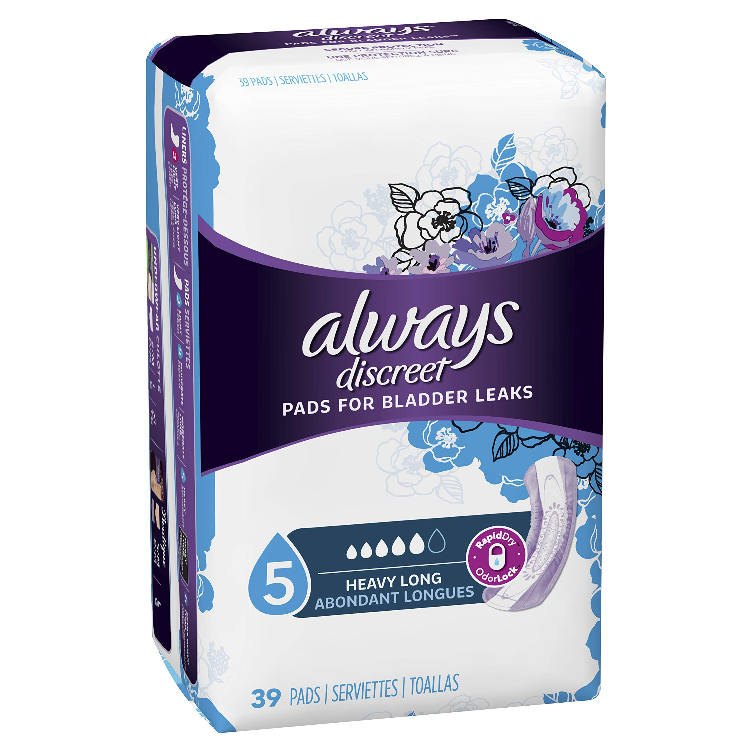 Amazon com: Always Discreet, Incontinence Pads for Women