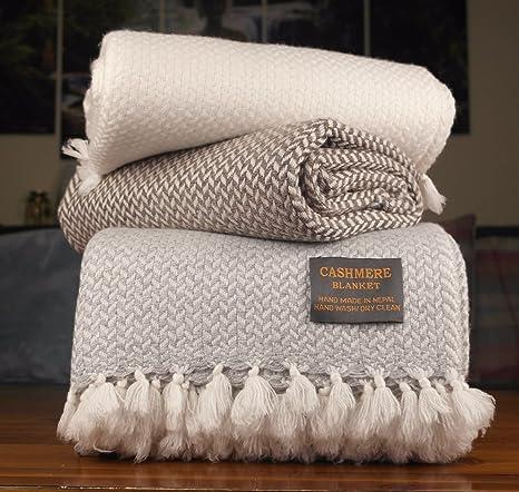 KtmCrafts Lujo Cachemira mantas mantas, sofá cama caliente ...