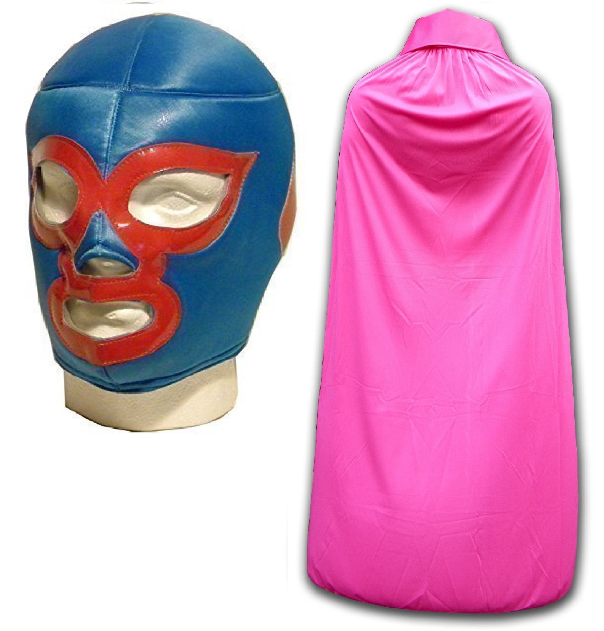 WRESTLING MASKS UK Men's Nacho Libre Luchador Wrestling Mask With Cape One Size Pink by Wrestling