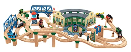 Amazon.com: Thomas & Friends Fisher-Price Wooden Railway, Tidmouth ...