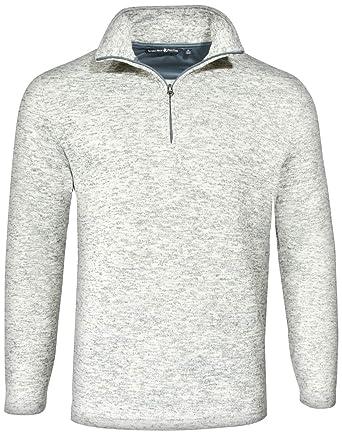 181977361 Beverly Hills Polo Club Men's 1/4 Zip Mock Neck Fleece Sweater at Amazon  Men's Clothing store: