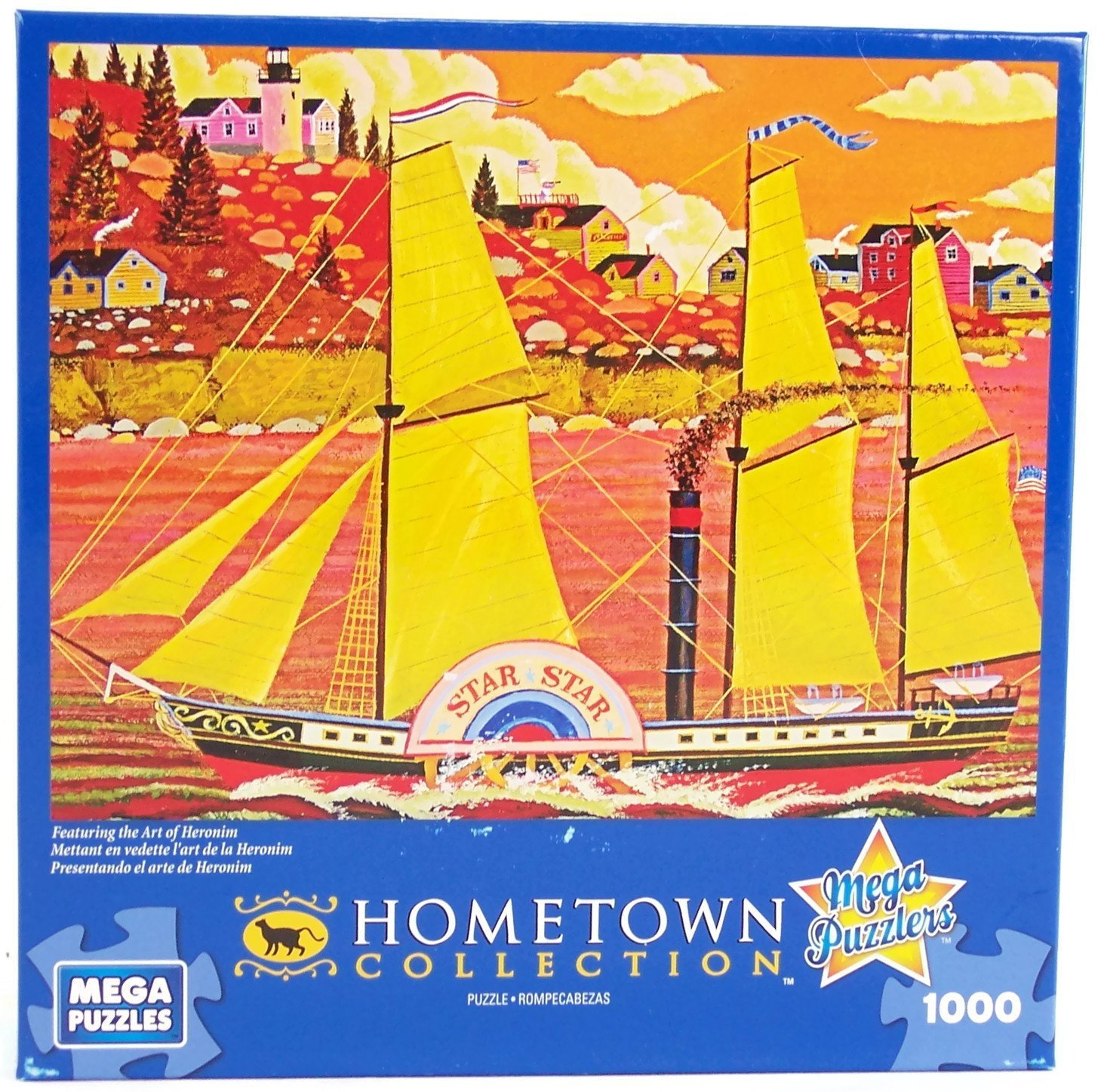 Hometown Collection Ocean Star 1000 Piece Jigsaw Puzzle By Heronim Mega Brands America Inc.